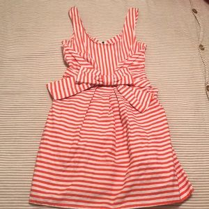 Dresses - Orange and white stripe sundress size S